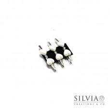 Mollettine con applicazione a cuore 25x12mm x6