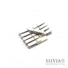 Mollettine bianche in legno 35x7mm x10