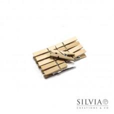 Mollettine naturali in legno 35x7mm x10