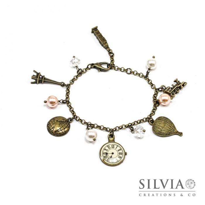 size 40 d6616 ca8cf Bracciale bronzo giro del mondo charms - silviacreationsandco