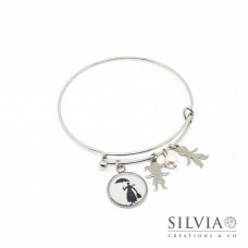 Bracciale bangle Mary Poppins inspired con sagoma e charms