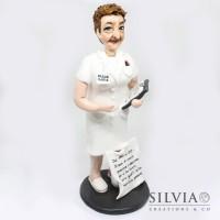 Cake topper personalizzato per pensione infermiera