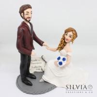 Cake topper sposi Nicolò e Francesca