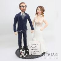 Cake topper sposi Dimitri e Marcella