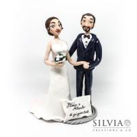 Cake topper sposi Ilaria e Alberto