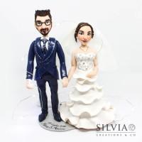 Cake topper sposi Monica e Marco