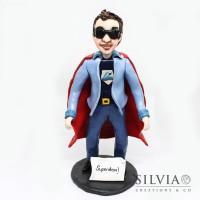 Cake topper personalizzato supereroe