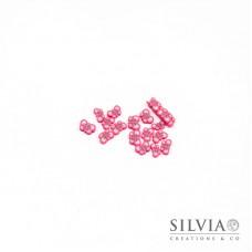 Fettine in pasta polimerica a forma di farfalla rosa 3x4 mm x 100pz