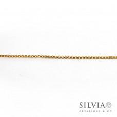 Catena rolò liscia color oro in acciaio da 2 mm x 1m