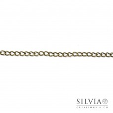 Catena ovale a torsione color bronzo da 7x5 mm x 1m