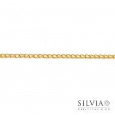 Catena ovale a torsione color oro da 5x3 mm x 1m