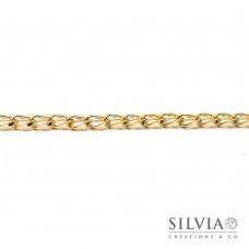 Catena ovale a torsione color oro da 9x5 mm x 1m