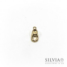 Charm a forma di scarpina oro in zama 24x11 mm