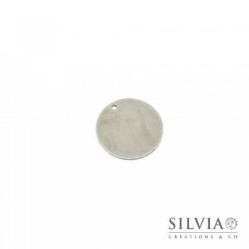 Charm a forma di disco rotondo in acciaio da 20 mm