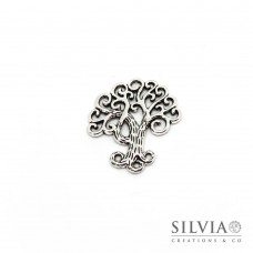 Charm a forma di albero argento antico in zama 29x26 mm