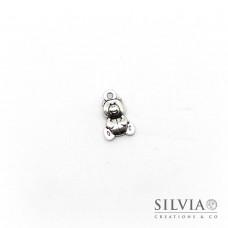 Charm a forma di orsetto argento antico in zama 16x10 mm