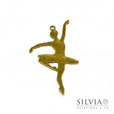 Charm a forma di ballerina bronzo in zama 66x35 mm