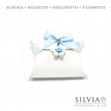 Confezione completa busta bianca con merletto per bomboniere