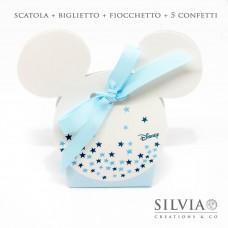 Confezione scatolina Mickey mouse con stelle per bomboniere