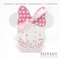 Confezione scatolina Minnie mouse con stelle per bomboniere