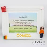 Cornice personalizzata per maestra con nome e miniatura