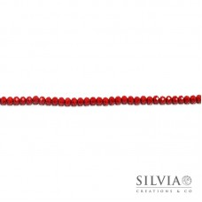 Cristalli a rondella rosso giacinto 6x4 mm
