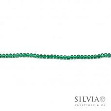 Cristalli a rondella verde smeraldo 6x4 mm