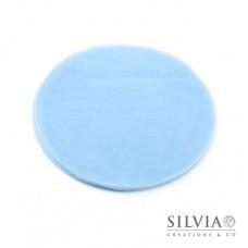 Disco in tulle color azzurro da 230 mm x10pz