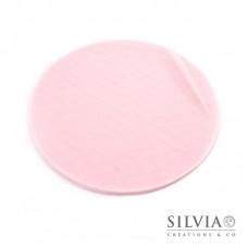 Disco in tulle color rosa da 230 mm x10pz