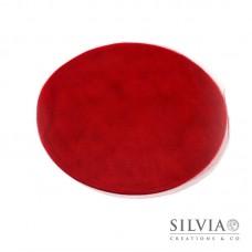 Disco in tulle color rosso da 230 mm x10pz