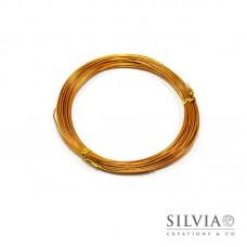 Filo in alluminio arancio oro 1 mm x 10m