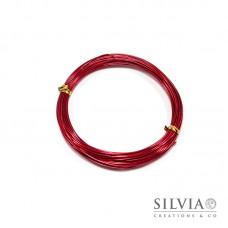 Filo in alluminio rosso 1 mm x 10m