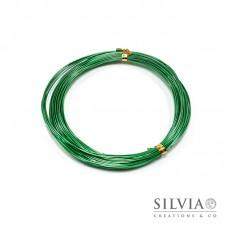 Filo in alluminio verde smeraldo 1 mm x 10m