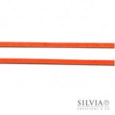 Nastro tipo alcantara scamosciato arancio 3 mm x 1m