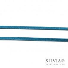 Nastro tipo alcantara scamosciato azzurro 3 mm x 1m