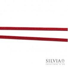 Nastro tipo alcantara scamosciato rosso 3 mm x 1m