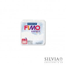 Fimo Effect 57 g color glitter bianco (n052)