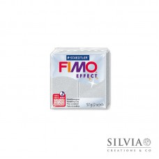 Fimo Effect 57 g color metallizzato argento (n81)