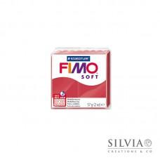 Fimo Soft 57 g color rosso ciliegia (n26)