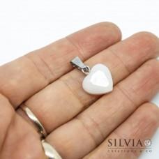 Ciondolo a forma di cuore da 12 mm in latte materno