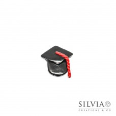 Magnete bomboniera a forma di tocco per laurea