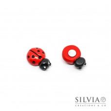 Magnete con coccinella rossa