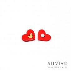 Magnete con cuore rosso