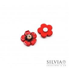 Magnete con fiore rosso