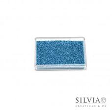 Microsfere di vetro azzurro perlato da 0,7 mm x 50g