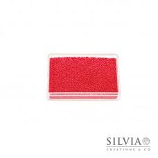 Microsfere di vetro rosso perlato da 0,7 mm x 50g