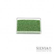 Microsfere di vetro verde perlato da 0,7 mm x 50g