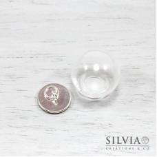 Sfera di vetro con base argento da 20 mm