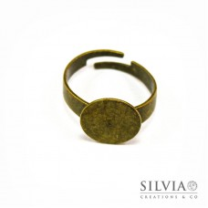Anello con base da 12 mm per incollare color bronzo