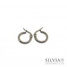 Orecchini ad anello in acciaio da 15 mm x 2pz